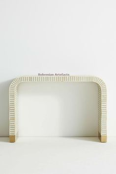 8ab3f13ac972  BoneInlay White  waterfall  Console. Visit http   www.bohemianartefacts
