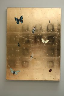 Bug panel  Kate Kelleher / gold leaf