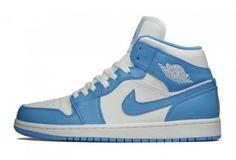 Image of Air Jordan 1 Retro Mid White University Blue aa5faa92d