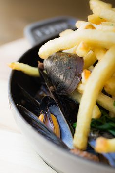 Chorizo Roasted Mussels by French Blue © Eric Wolfinger, via Flickr