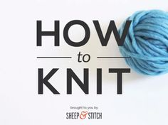 Ever wanted to learn how to knit? These free videos will teach you the basic stitches, including how to cast on.