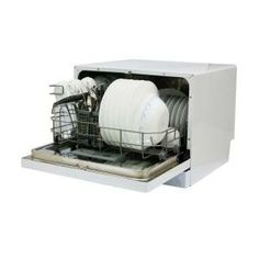 Countertop Dishwasher Magic Chef : Magic Chef Countertop Dishwasher in White 6 Place Settings-MCSCD6W1 at ...