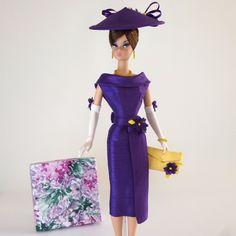 "OOAK Handmade Vintage Barbie/Silkstone Fashion by Roxy-"" VIOLETTE "" | eBay"