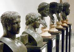Busts from Villa dei Papyri, Herculaneum
