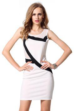 O-Neck Mesh Patchwork Slim Mini Dress