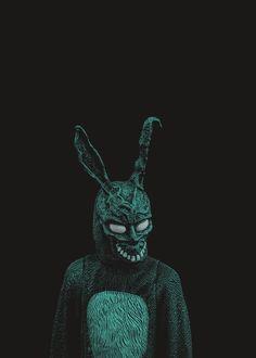 Weird Weird World Donnie Darko Frank, Man Beast, Dark Drawings, King Simba, Darkness Falls, Painting Collage, Occult, Dark Art, Horror Movies