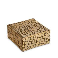 Crocodile Square Box by L'Objet
