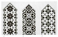 Pine Cone Lodge: Some Selbu mittens for your pleasure Cross Stitch Bookmarks, Cross Stitch Borders, Cross Stitching, Cross Stitch Embroidery, Cross Stitch Patterns, Knitting Charts, Knitting Stitches, Knitting Patterns, Free Knitting