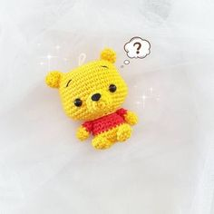 Cute Pooh amigurumi - Free Pattern ~ he's just so adorable - love this tiny cutie.
