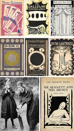 Vanessa Bell's book covers for Virginia Woolf.