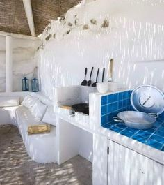 Outdoor kitchen in Greece.