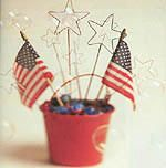 Toss out the sparklers! Kids can safely show their patriotic spirit with these super easy star spangled bubble wands.