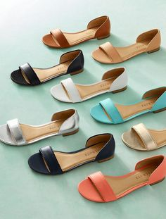Lamar D& Flats - Vachetta Leather - Talbots Shoes Flats Sandals, Leather Sandals, Shoe Boots, Flat Shoes, Flat Sandals, Pretty Shoes, Cute Shoes, Me Too Shoes, Mein Style