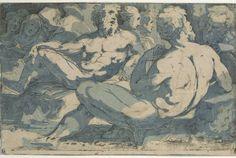 'Gruppe von Männern und Frauen' de  Domenico Beccafumi