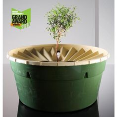 AquaPro Holland Groasis Waterboxx : An irrigation free planter which could help reforest Drylands.