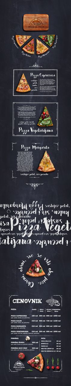 Graphic design for pizza fast food