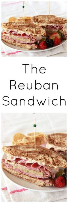 The Reuban Sandwich with the corned beef, sauerkraut, and rye bread! on www.cookingwithruthie.com