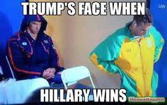 TRUMP's face when Hillary wins meme - Phelps (56984) | Memes Happen