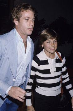 Actor Ryan O'Neal and daughter, actress Tatum O'Neal