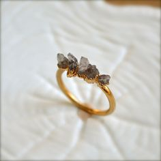 Amethyst Spike Gold Ring. $38.00, via Etsy.