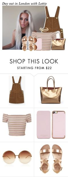 """""""782 • Day out in London with Lottie"""" by queenxxbee ❤ liked on Polyvore featuring Miss Selfridge, Ted Baker, Linda Farrow, Kenneth Jay Lane and LottieTomlinson"""