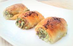 Cocina con Marta. Recetas fáciles, rápidas y caseras: Saladitos de queso, espinacas y jamón