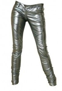 Balmain Metallic Biker Pants worn by 2NE1 Dara | Kpop Fashion