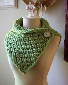 Chunky Cowl Neckwarmer - interesting longer coverage in neckline of coat - no pattern, already sold.