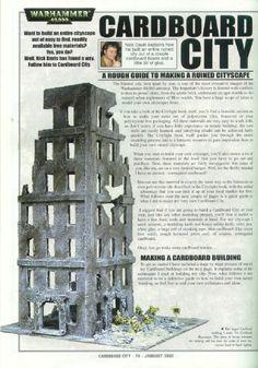 Modelling - Cardboard City WWW.SCRIBD.CO/DOC/34200146/mODELLING-cARDBOARD-cITY