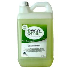 "Now you just need 1 for all kind of  cleanser ""ecoSmart Spray N' Wipe"" all purpose for your cleaning solutions, processed from a extract of natural plants and 100% bio-degradable Lets cleans ours without pollute the #earth !"