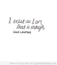 I am enough <3