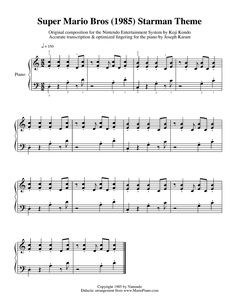 "This site is awesome! It has the piano notes for all the Super Mario Bros. ""songs"" I just played through all of them :P"