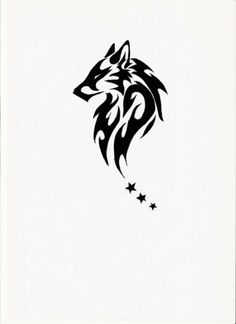 tribal wolf tattoos for men, replace the stars with waxing crescent, full, and waning crescent moons Tattoo Arm Mann, Tattoo L, Back Tattoo, Tattoo Drawings, Tiger Tattoo, Tattoo Moon, Chest Tattoo, Trendy Tattoos, New Tattoos