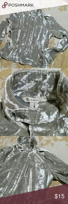 BCBG Valour Bomber jacket Grey valour bomber!! Super cute!! BCBGeneration Jackets & Coats Blazers