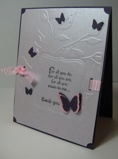 butterfly embossing folder ideas | ... could see the embossing, since that's the focus of this challenge