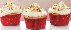 Betty Crocker® SuperMoist® cake mix, apple butter and pecans come together in these nutty cupcakes - a delicious dessert.