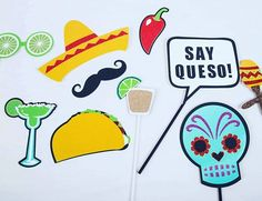 Mexican Fiesta props! Ready to go  Andale, Andale! . . #photobooth #props #custommade #dailypic #handmade #mexican #fiesta #cincodemayo #wedding #inspiredbride #weddingplanning #eventplanner #eventstyling #photography #mustache #taco #bachelorette by lushpartystudio74. eventstyling #inspiredbride #dailypic #cincodemayo #wedding #handmade #fiesta #mustache #bachelorette #taco #photobooth #photography #mexican #props #custommade #weddingplanning #eventplanner #meetingprofs #eventprofs #events…