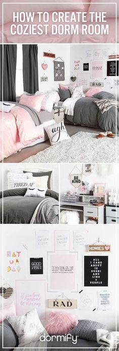 Create the comfiest dorm room with style. Head to dormify.com to design your dream room.