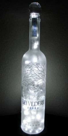 Amazon.com : Upcycled Belvedere Vodka Bottle Art Lamp - Hand Crafted by GypsyBeat LLC : Table Lamps : Home Improvement