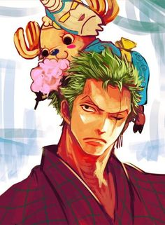Zoro and Chopper One Piece