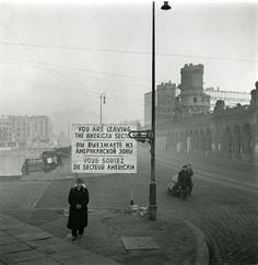 BERLIN - Kreuzberg, 50er Jahre, Oberbaumbrücke