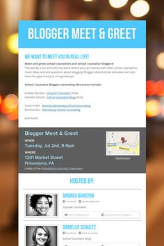 Blogger Meet & Greet July 2nd #ASCA13 in Philly!