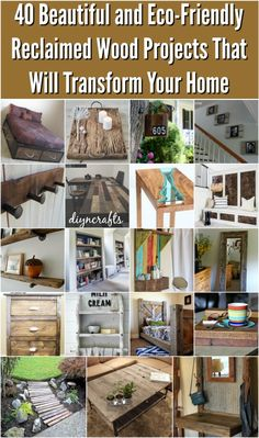 Looking for the perfect DIY project to transform your home this summer? One of the biggest trends in home décor right now is upcycling reclaimed wood. You can search for wood and reclaim it yourself from abandoned local structures (barns, railroads, etc.), or you can purchase it wholesale. Pallets are a great source if you are just starting out—just keep an eye on the roadside on your next long drive and you are bound to find some just lying around. via @vanessacrafting