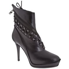 HAIDER ACKERMANN platform ankle boots ($1,105) ❤ liked on Polyvore