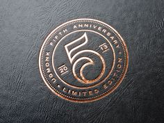 Detail of the copper foil embossing on the new 5th Anniversary Set packaging.   More photos here