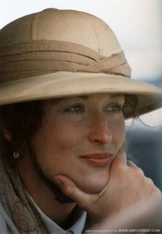 Streep. Clothing by Ralph Lauren. Out of Africa.