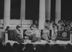 Lotfi (Second from Left) Performing in Shiraz Arts Festival with Naser Farhangfar (first from left) and Shajarian, 1976
