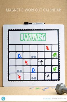 Silhouette America Blog | Magnetic Workout Calendar | full Silhouette project tutorial