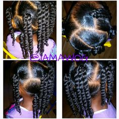 Ponytails w/two strand twist
