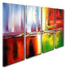@Overstock - Artist: Unknown  Subject: contemporary  Product type: canvas arthttp://www.overstock.com/Home-Garden/Abstract-Hand-painted-Oil-on-Canvas-Art-Set/4324396/product.html?CID=214117 $98.99